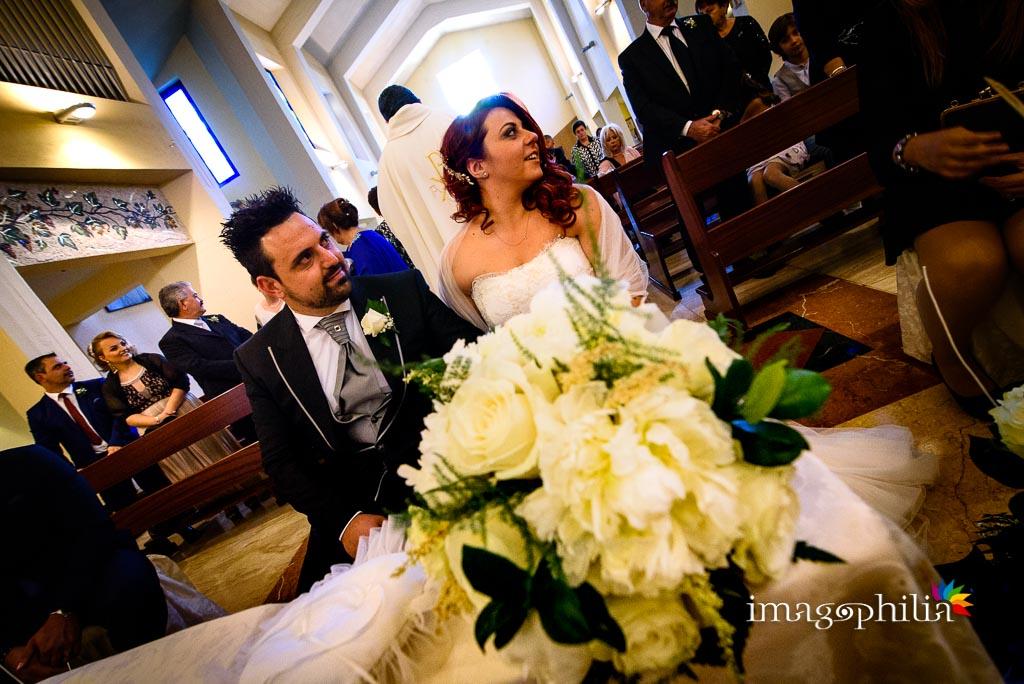 Cerimonia di matrimonio nella Chiesa di Gesù Maestro a Fonte Nuova