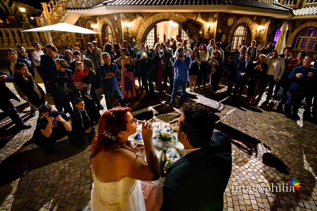 Brindisi al termine del ricevimento di matrimonio a Villa Sesterzi, Fonte Nuova