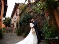 Foto tour degli sposi nel centro di Montecompatri