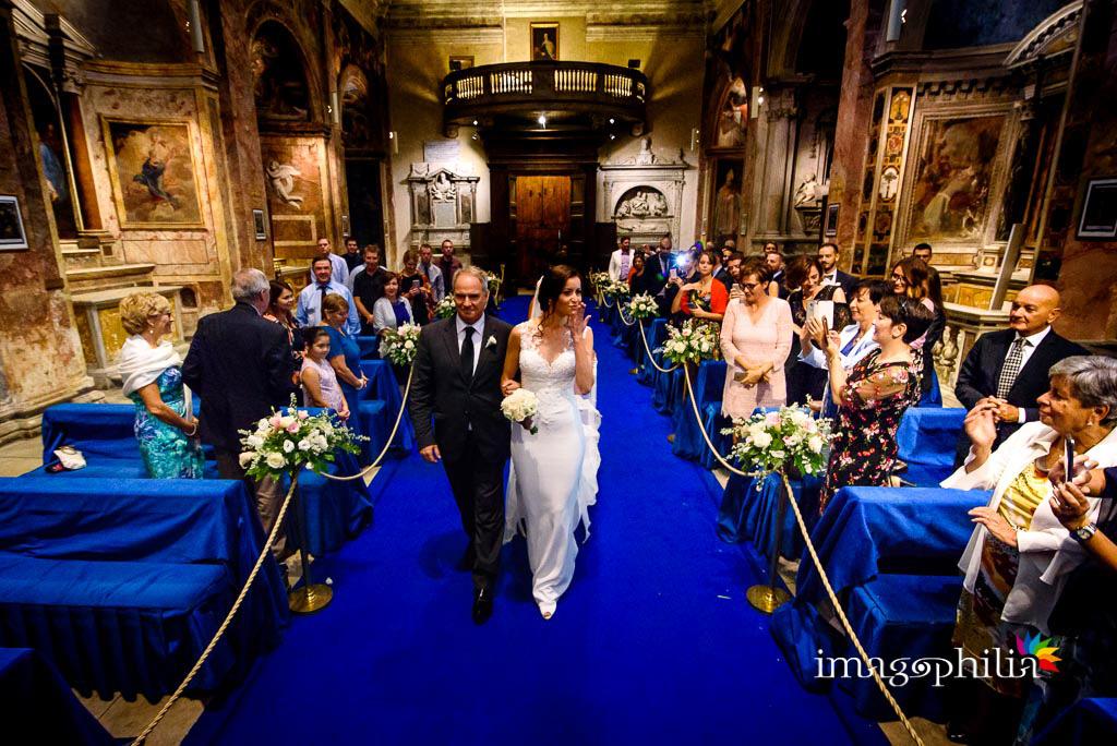 L'ingresso della sposa nella Chiesa di San Pietro in Montorio a Roma