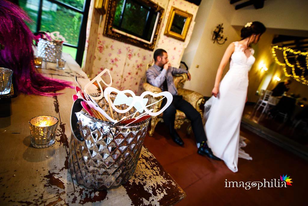 Photo booth durante il ricevimento di matrimonio ai Casali Margherita a Roma / 1