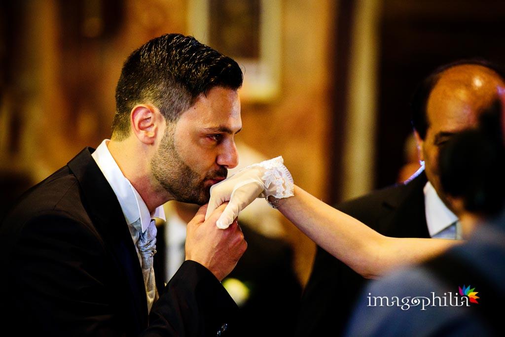 Baciamano all'ingresso della sposa nella Chiesa di San Pietro in Montorio a Roma