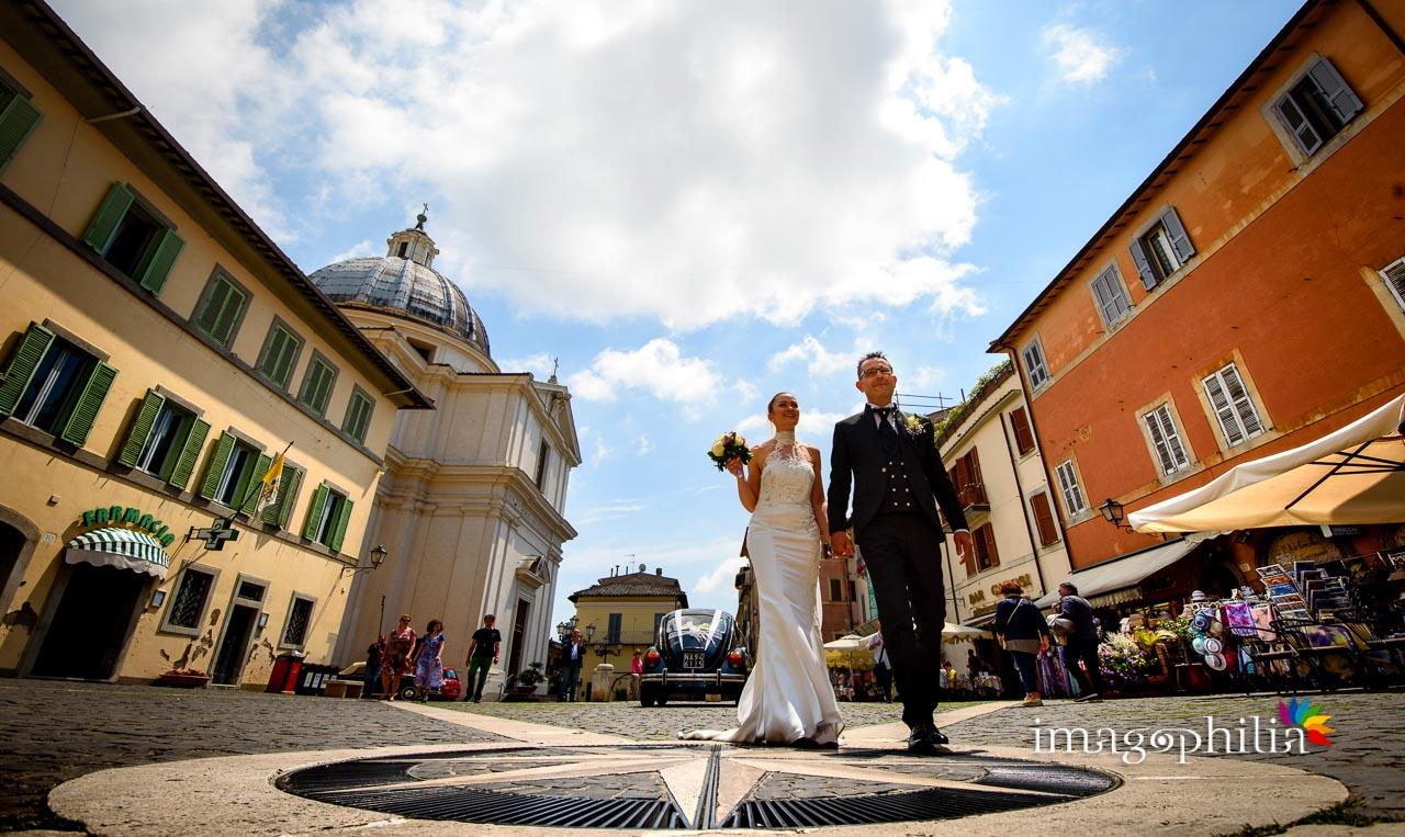 Altra passeggiata nella piazza di Castel Gandolfo